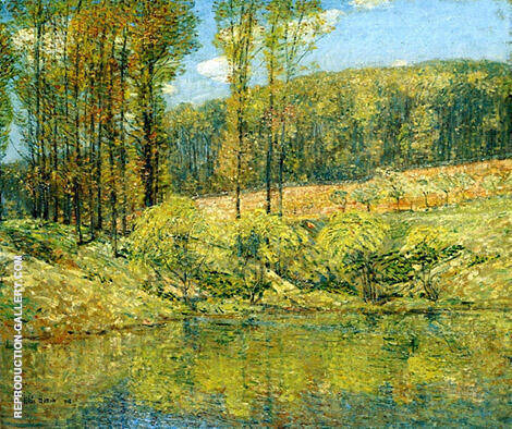 Spring Navesink Highlands 1908 By Childe Hassam - Oil Paintings & Art Reproductions - Reproduction Gallery