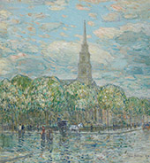 St Marks in The Bowery By Childe Hassam