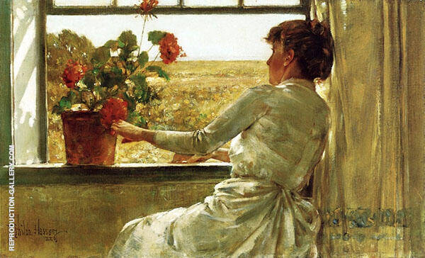 Summer Evening Painting By Childe Hassam - Reproduction Gallery