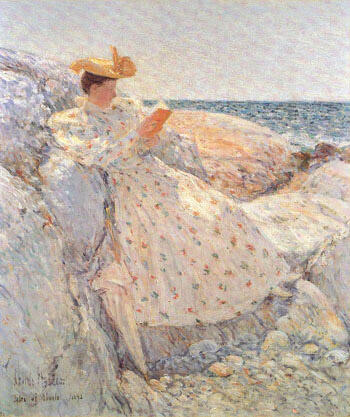 Summer Sunlight By Childe Hassam - Oil Paintings & Art Reproductions - Reproduction Gallery