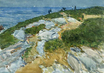 Sunday Morning Appledore 1912 By Childe Hassam - Oil Paintings & Art Reproductions - Reproduction Gallery
