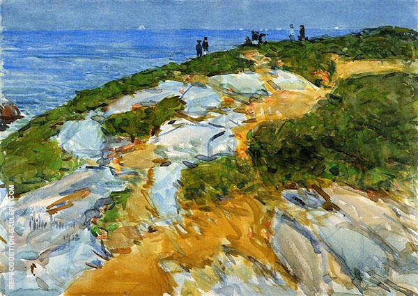 Sunday Morning Appledore 1912 By Childe Hassam Replica Paintings on Canvas - Reproduction Gallery