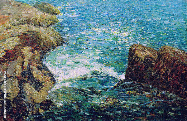 Surf and Rocks 1906 By Childe Hassam