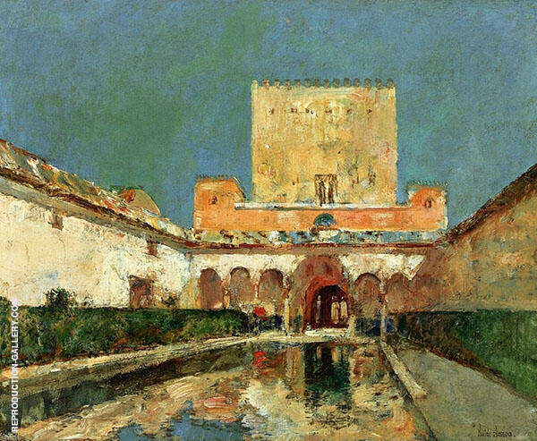 The Alhambra Summer Palace of The Caliphs Granada Spain c1883 By Childe Hassam