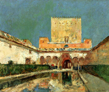 The Alhambra Aka Summer Palace of The Caliphs Granada Spain c1883 By Childe Hassam - Oil Paintings & Art Reproductions - Reproduction Gallery