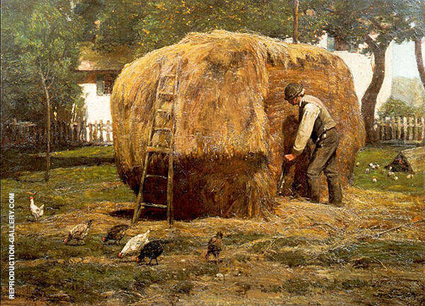 Reproduction of The Barnyard 1885 by Childe Hassam | Oil Painting Replica On CanvasReproduction Gallery