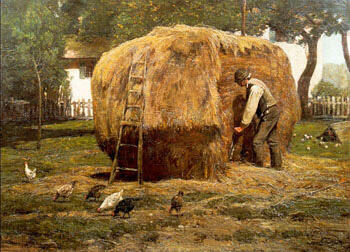 The Barnyard 1885 By Childe Hassam - Oil Paintings & Art Reproductions - Reproduction Gallery