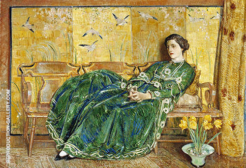 The Green Gown 1920 By Childe Hassam