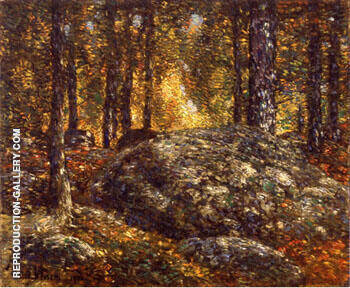 The Jewel Box Old Lyme 1906 By Childe Hassam - Oil Paintings & Art Reproductions - Reproduction Gallery