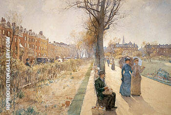 The Public Garden Boston Common c1885 By Childe Hassam