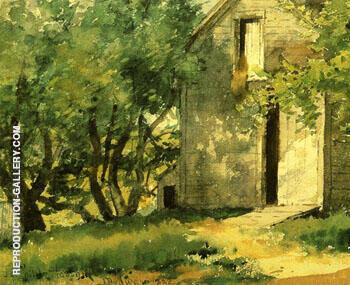 White Barn 1882 By Childe Hassam - Oil Paintings & Art Reproductions - Reproduction Gallery