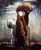 1938 No 2 Untitled Hoodoos 1938 By Clyfford Still