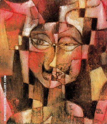 Head with German Moustache 1920 By Paul Klee