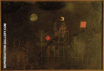 Pavillion Decked with Flags 1927 By Paul Klee