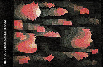 Fugue in Red 1921 By Paul Klee Replica Paintings on Canvas - Reproduction Gallery