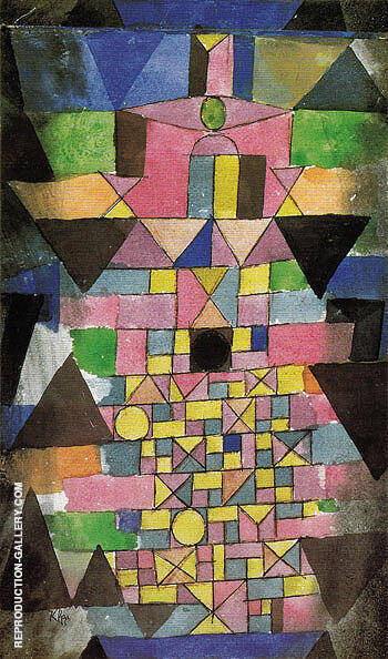 Architectural Script 1918 By Paul Klee Replica Paintings on Canvas - Reproduction Gallery