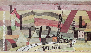 Station L122 14km 1920 By Paul Klee Replica Paintings on Canvas - Reproduction Gallery