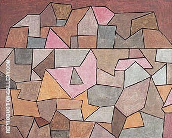 Village on Rocks 1932 By Paul Klee Replica Paintings on Canvas - Reproduction Gallery