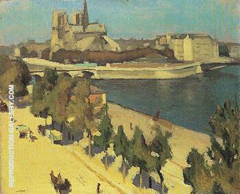 Abside de Notre Dame de Paris 1901 By Albert Marquet Replica Paintings on Canvas - Reproduction Gallery