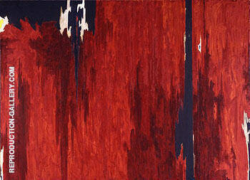 Untitled 1951 1952 By Clyfford Still Replica Paintings on Canvas - Reproduction Gallery