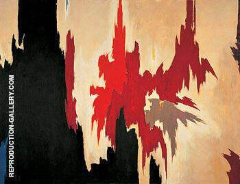 Untitled 1956 By Clyfford Still