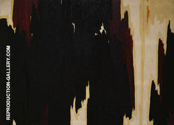 Untitled 1958 By Clyfford Still Replica Paintings on Canvas - Reproduction Gallery