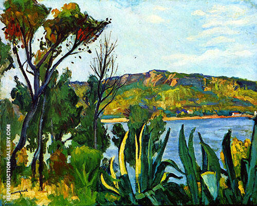 Vue d Agay 1905 Painting By Albert Marquet - Reproduction Gallery