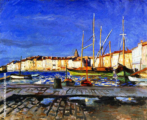 Port de Saint Tropez 1905 Painting By Albert Marquet