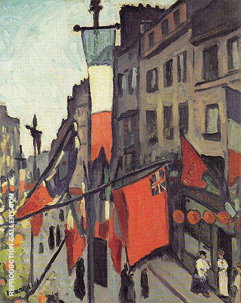 Le 14 Juillet au Havre 1906 By Albert Marquet Replica Paintings on Canvas - Reproduction Gallery
