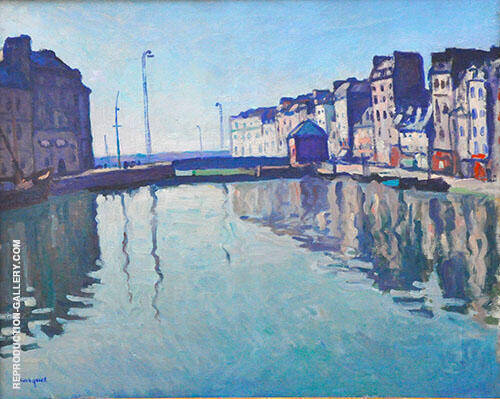 Bassin au Havre 1906 Painting By Albert Marquet - Reproduction Gallery