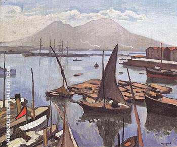 Le Port de Naples 1909 Painting By Albert Marquet - Reproduction Gallery