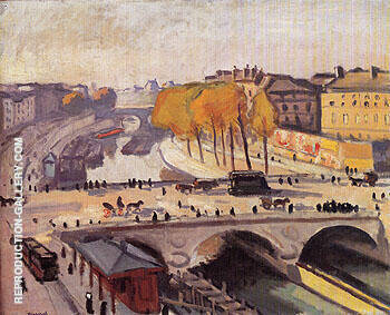 Reproduction of Le Pont Saint Michel et le Quai des Grands Augustins 1912 by Albert Marquet | Oil Painting Replica On CanvasReproduction Gallery