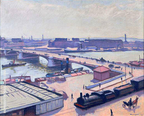 Le Quai de Paris a Rouen 1912 By Albert Marquet