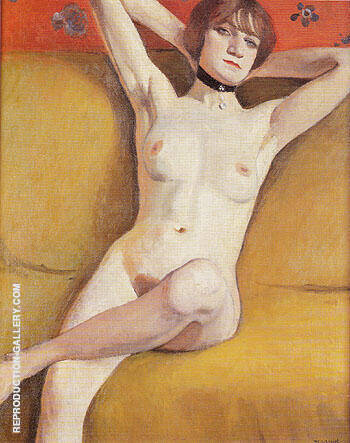 Nu au Divan 1912 By Albert Marquet Replica Paintings on Canvas - Reproduction Gallery