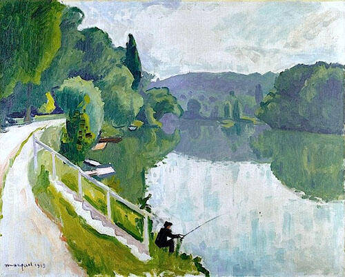 Bords de Riviere 1913 By Albert Marquet Replica Paintings on Canvas - Reproduction Gallery