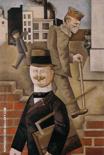 Gray Day 1921 Painting By George Grosz - Reproduction Gallery