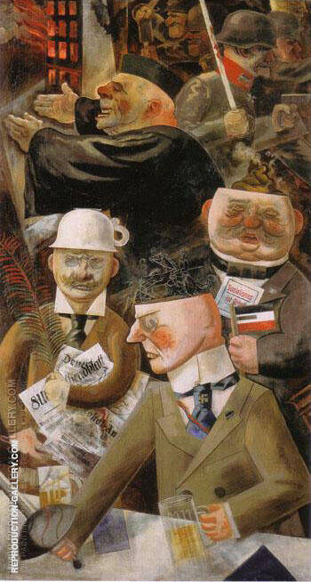 The Pillars of Society 1926 Painting By George Grosz
