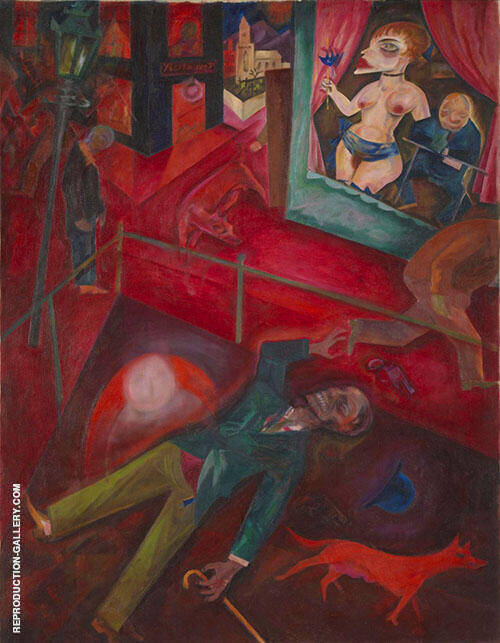 Suicide 1916 By George Grosz