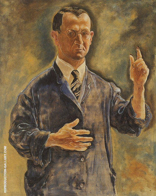 A Warning Self Portrait Painting By George Grosz - Reproduction Gallery