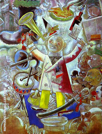 The Agitator 1928 Painting By George Grosz - Reproduction Gallery