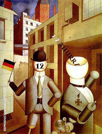 Republican Automatons 1920 By George Grosz - Oil Paintings & Art Reproductions - Reproduction Gallery