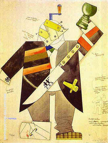 Methusalem 1922 By George Grosz - Oil Paintings & Art Reproductions - Reproduction Gallery