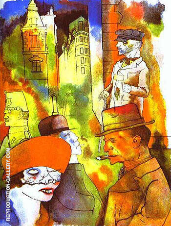 Dusk 1922 By George Grosz