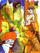 Dusk 1922 By George Grosz