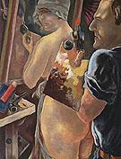 Gray Self Portrait with Model By George Grosz