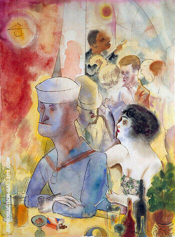 Grey Matrose im Nactlokal 1925 By George Grosz - Oil Paintings & Art Reproductions - Reproduction Gallery