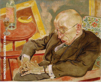 The Writer Max Herrmann Neisse 1927 By George Grosz