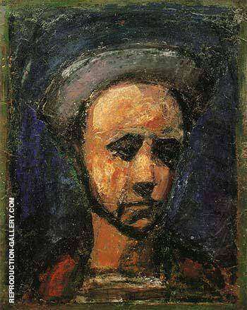 The Workman Apprentice Self Portrait c1925 Painting By George Rouault