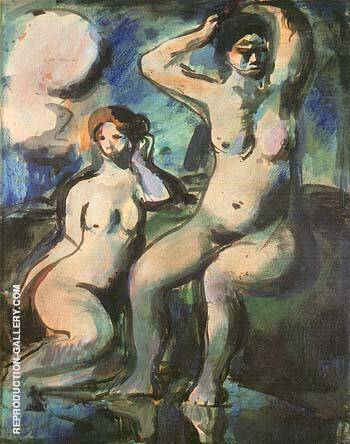 Reproduction of Bathers 1903 by George Rouault | Oil Painting Replica On CanvasReproduction Gallery