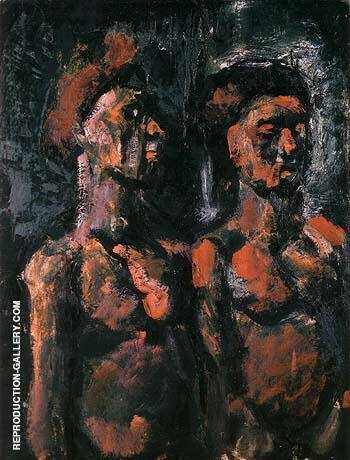 Prostitutes 1909 By George Rouault - Oil Paintings & Art Reproductions - Reproduction Gallery